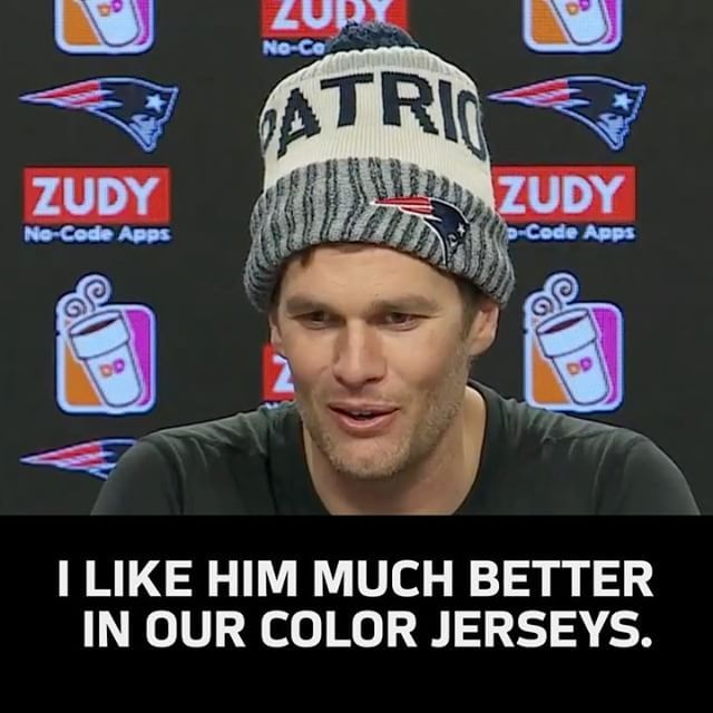 @tombrady comments on the @patriots signing @jhharrison92
