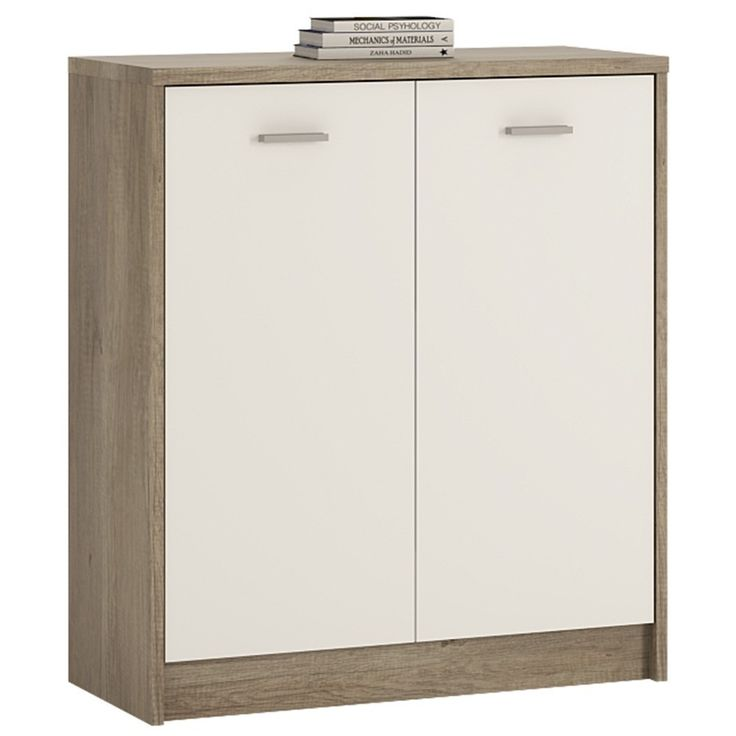 4 you 2 door cupboard in canyon grey u0026 pearl white door spacessmall cupboardat 4space whiteshoe