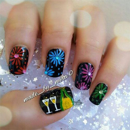Best 25 new years nails ideas on pinterest new years nail 15 happy new year eve nail art designs ideas trends stickers prinsesfo Gallery