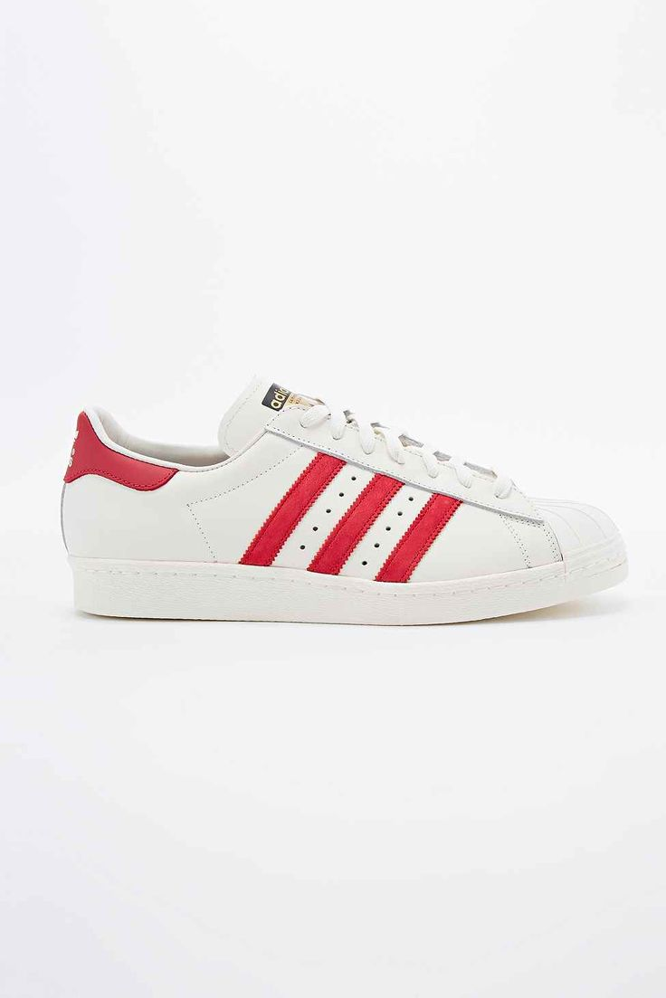 Adidas - Baskets Superstar 80s blanches et rouges