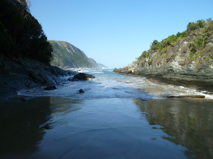 Little beach at Tsitsikamma National Park on the Garden Route in South Africa