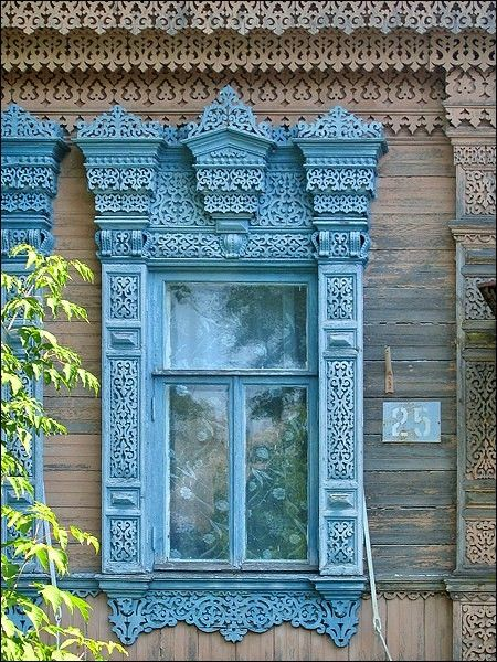 Traditional Russian house by summer