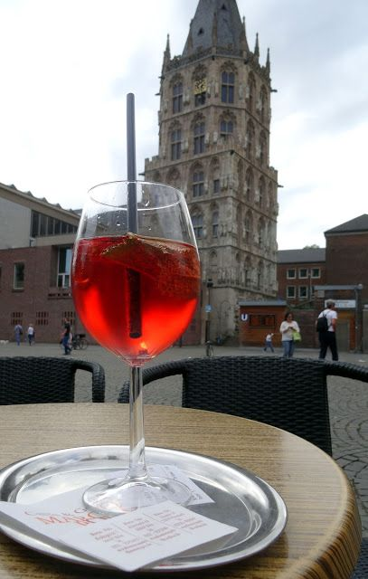 Drinks on Alter Market in Cologne, Germany