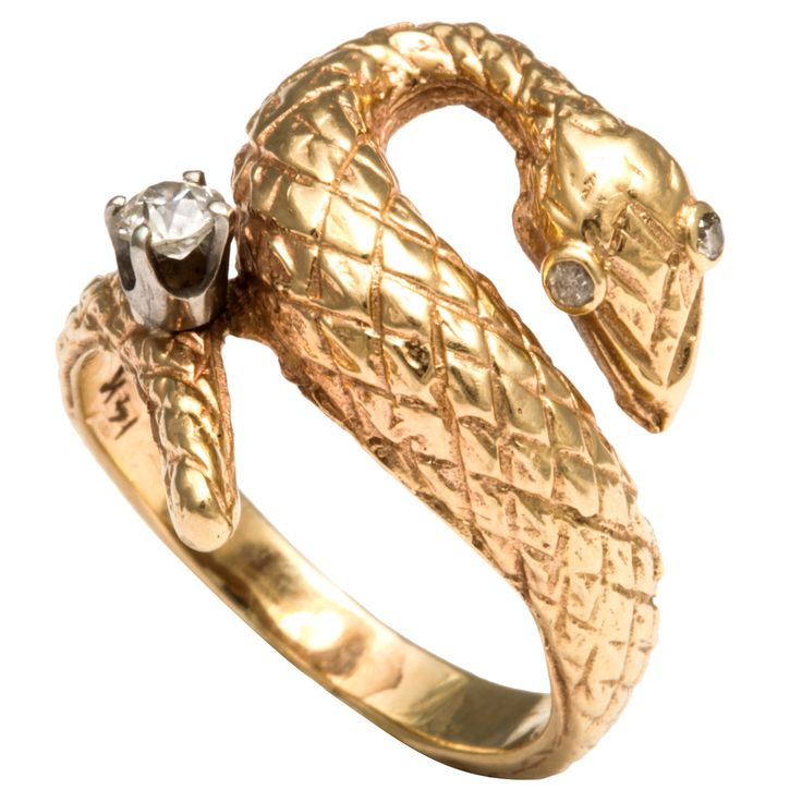 Gold and Diamond Snake Ring: Snake Ring, Jewelry Snakes, Snakes Jewelry, Metals Jewelry, Snakes Rings, Rings Of, Snakes Gems, Jewelry Rings, Diamonds Snakes