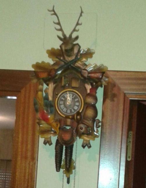 Reloj Cuco Antiguo Cornamenta