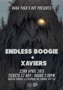 Live: Endless Boogie at Corsica Studios, London. April 22nd 2013.