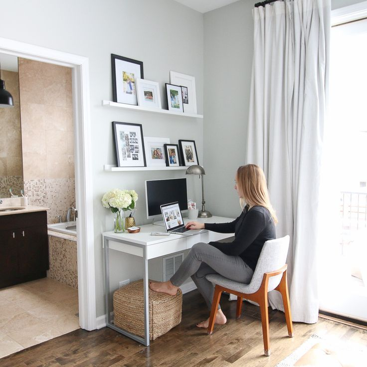 How To Hide Desk Cords In Your Home Office The Diy Playbook Desk In Living Room Living Room Office Home Desk