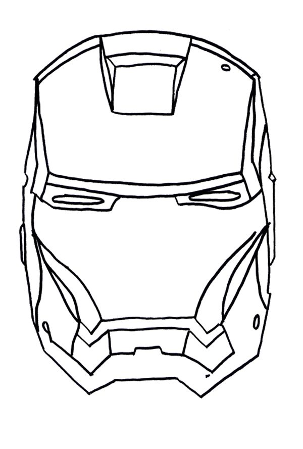 coloring pages iron man mask - photo#20