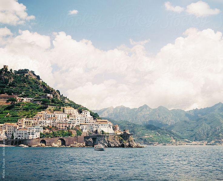 Beautiful Landscape of Italian coast of Mediterranean Sea