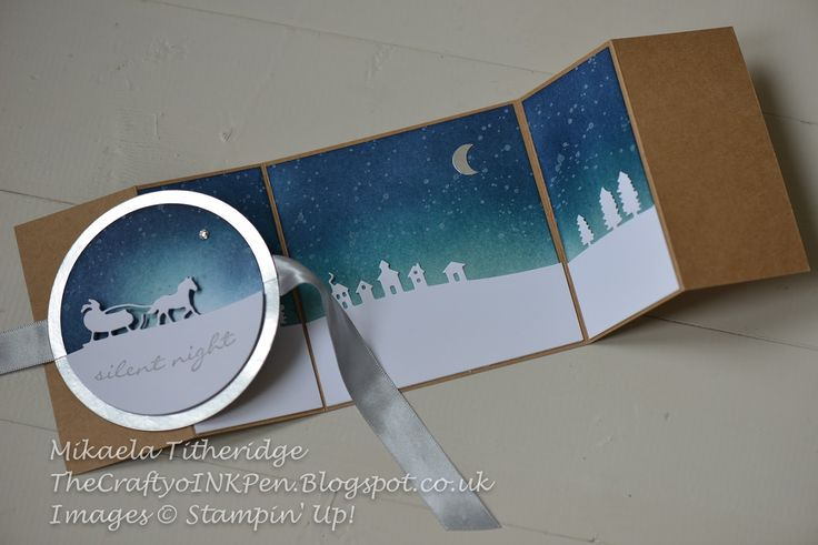 Christmas card using Stampin Up Sleigh Ride dies