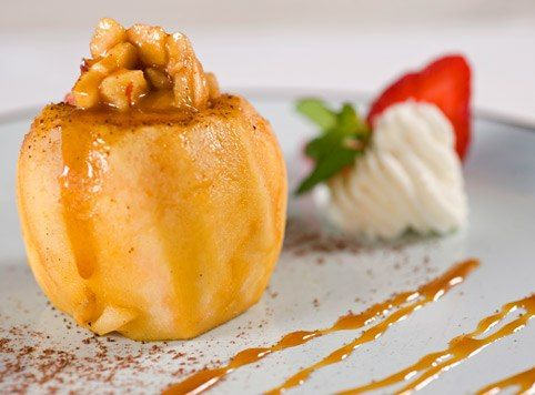 Baked apple: If you bake an apple with a teaspoon of honey, you get a ...
