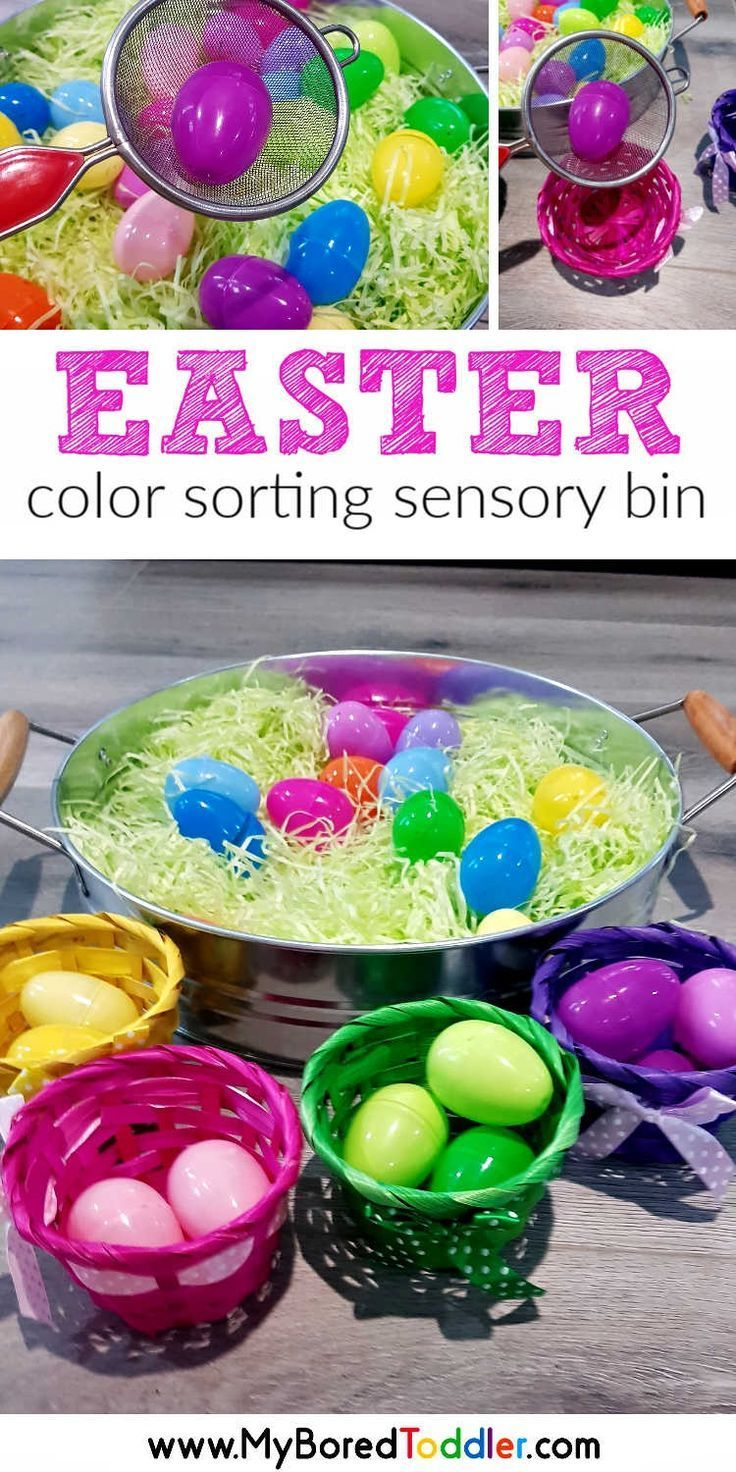Easy Easter Egg Color Sorting Activity For Toddlers Easter Crafts