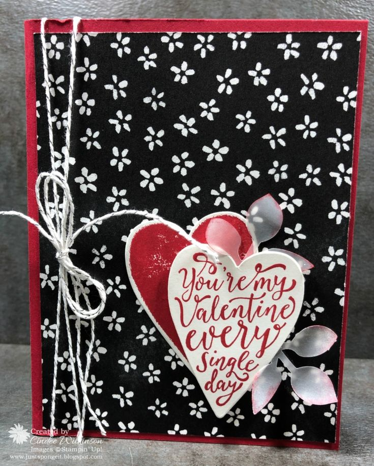 Clear Wink of Stella, Leaf Punch, Petal Passion dsp, Real Red, Silver Baker's Twine, Stampartaus, Sure do Love You Bundle, Uninked Stampin' Spots, Vellum, Stampin' Up!, Valentine's Day, DIY
