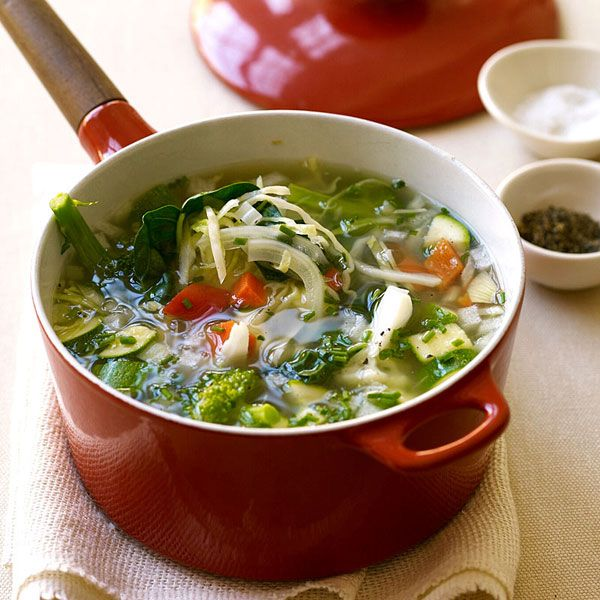 Weight Watchers Fresh Vegetable Soup: Some say this soup is the secret to their weight-loss success. It's a great midday snack or dinner appetizer. 1 Points+