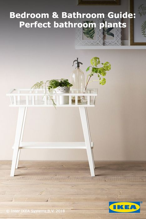 Decorative plants can be used to add spa-like serenity and fresh air to your bathroom. Check out the IKEA Bedroom & Bathroom Guide for more information on plants that will thrive in your space.