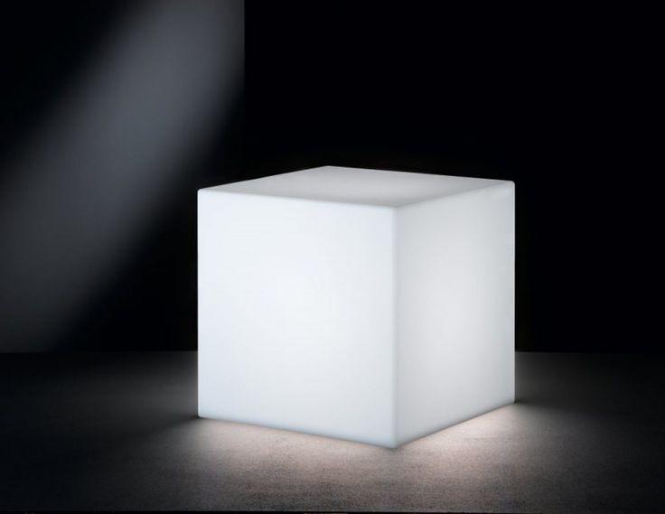 Wofi YARD 611 Außen Deko Lichtwürfel, 1x E27, weiß, 30cm