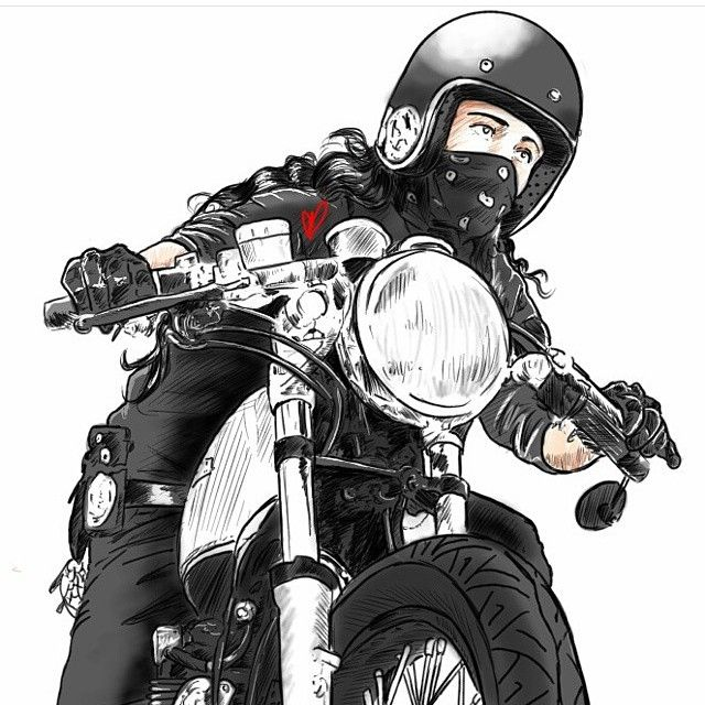 I seriously have no words to describe how flattering this is! @starvin_artist28 you are one hell of a talent! This is really F*cking cool, thank you, miss! !!#madhousemotors #caferacer #Padgram