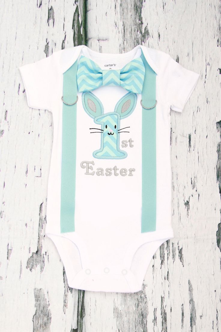 Baby boy blue chevron 1st Easter onesie, Boy First Easter outfit My first Easter Add Matching Leg Warmers, Baby Boy Christian Onesie by LoveAndLollipopsBaby on Etsy