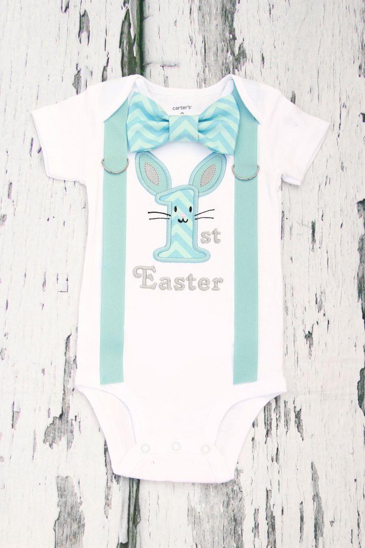 Baby boy blue chevron 1st Easter onesie, Boy First Easter outfit My first Easter Add Matching Leg Warmers, Baby Boy Christian Onesie by LoveAndLollipopsBaby on Etsy