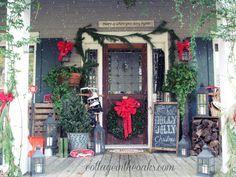 christmas cottage front porch
