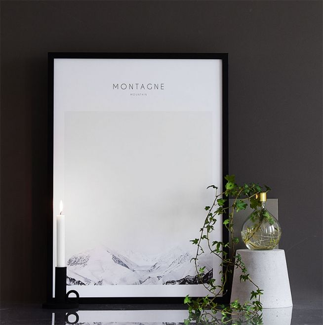 Plakat med naturmotiv, flot fotokunst.