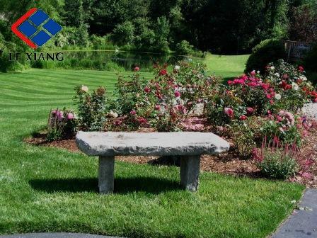 Natural stone bench