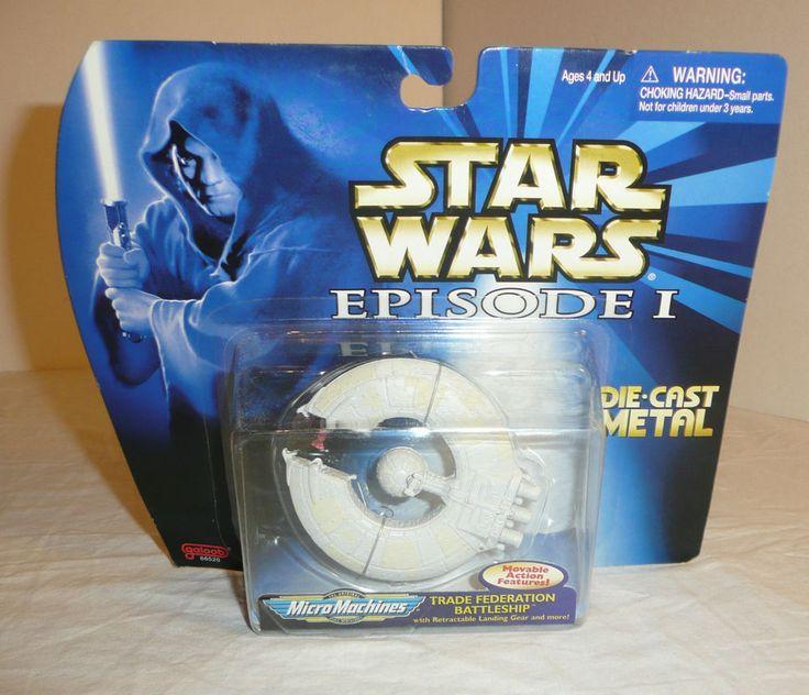 Star Wars Die Cast Metal Ship Trade Federation Battleship Micro Machines Galoob #Galoob