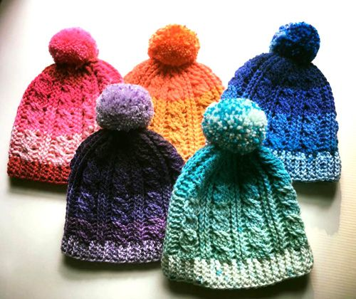 Caron Cakes Cable Hat - Free Pattern