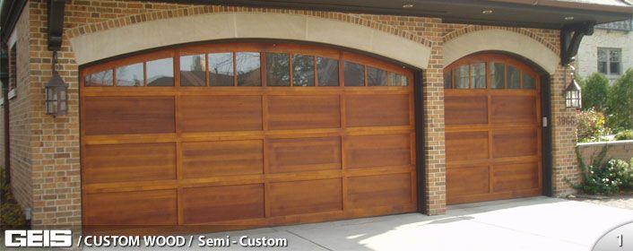 Custom Wood Garage Door From Geis In Milwaukee Custom Wood Garage Doors Sliding Glass Door Repair Wooden Garage Doors