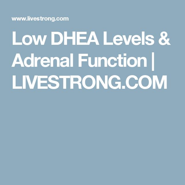 Low DHEA Levels & Adrenal Function   LIVESTRONG.COM