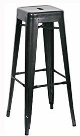 Bang Bang WHO - VINTAGE REPLICA METAL CAFE BAR STOOL BLACK, $30.00 (http://www.bangbangwho.com/bar-stools/vintage-replica-metal-cafe-bar-stool-black/)