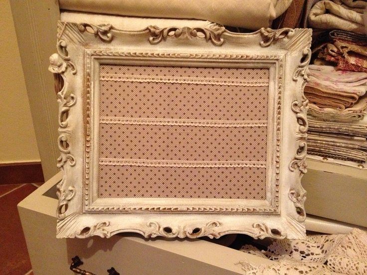 Frames with lace and fabric
