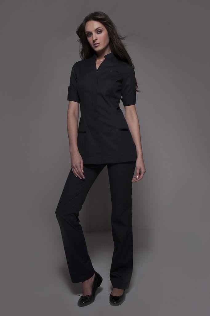 f59f7e3eda5 Elegant Spa Uniforms   Hospitality   NIAGARA & CORDOBA Set   Black    STYLEMONARCHY – stylemonarchy.com