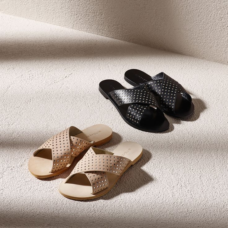 Summer Slides: Stick to black, white or neutral and clean timeless shapes for effortless style.
