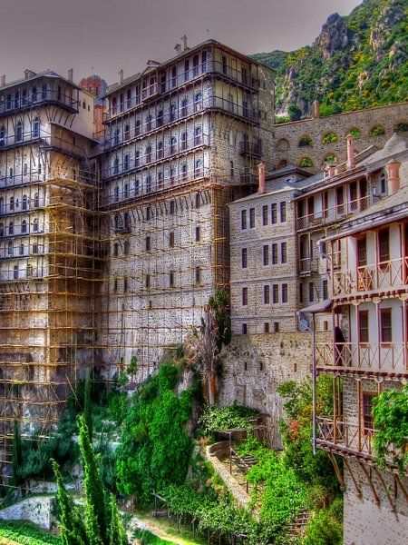 """Where eagles dare"".. Simonos Petras Monastery, Mount Athos, Greece // by Nikos O'Nick on Flickriver"