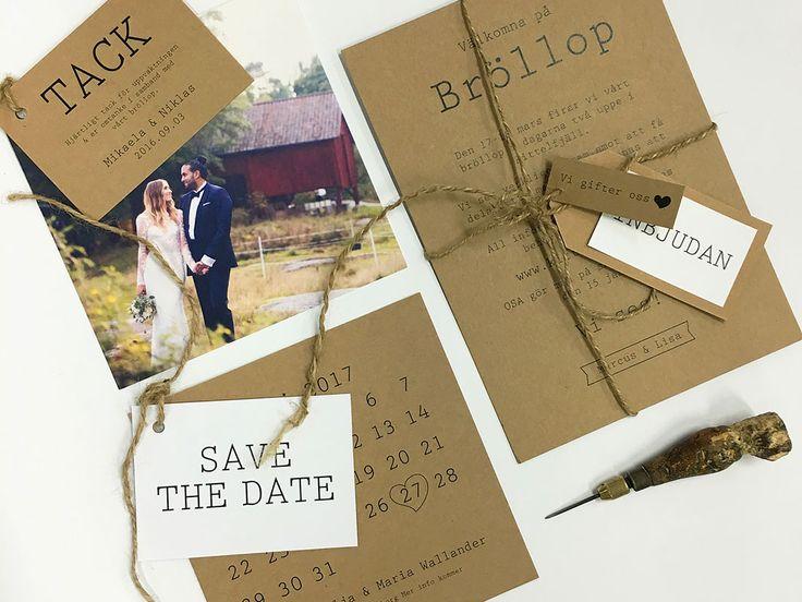 Visby eko vintage bröllopsinbjudan ingår i eko-inspirerad kollektion med tryckta produkter för det miljömedvetna brudparet. Pappret är av 100% returfiber.
