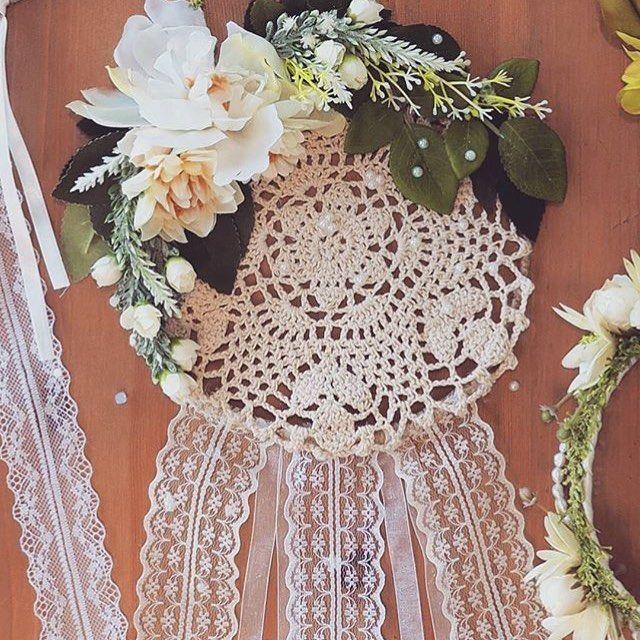 Crochet Floral Dreamcatcher