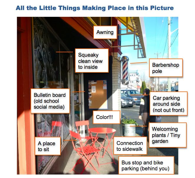 """A look at all the simple little things that help make place in the city and illustrate the Project for Public Space's principle """"Start with the petunias."""""""
