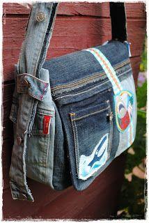 Damen Jeans Canvas Leinwand Umhängetasche Messenger Bag Handtasche