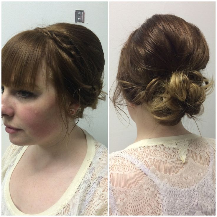 Hair by Kendra. Updo on shoulder length hair. To book an appointment with Kendra, call (780) 467-3288 or visit our website at www.sylviaco.com. Located in Sherwood Park, Alberta, Canada.
