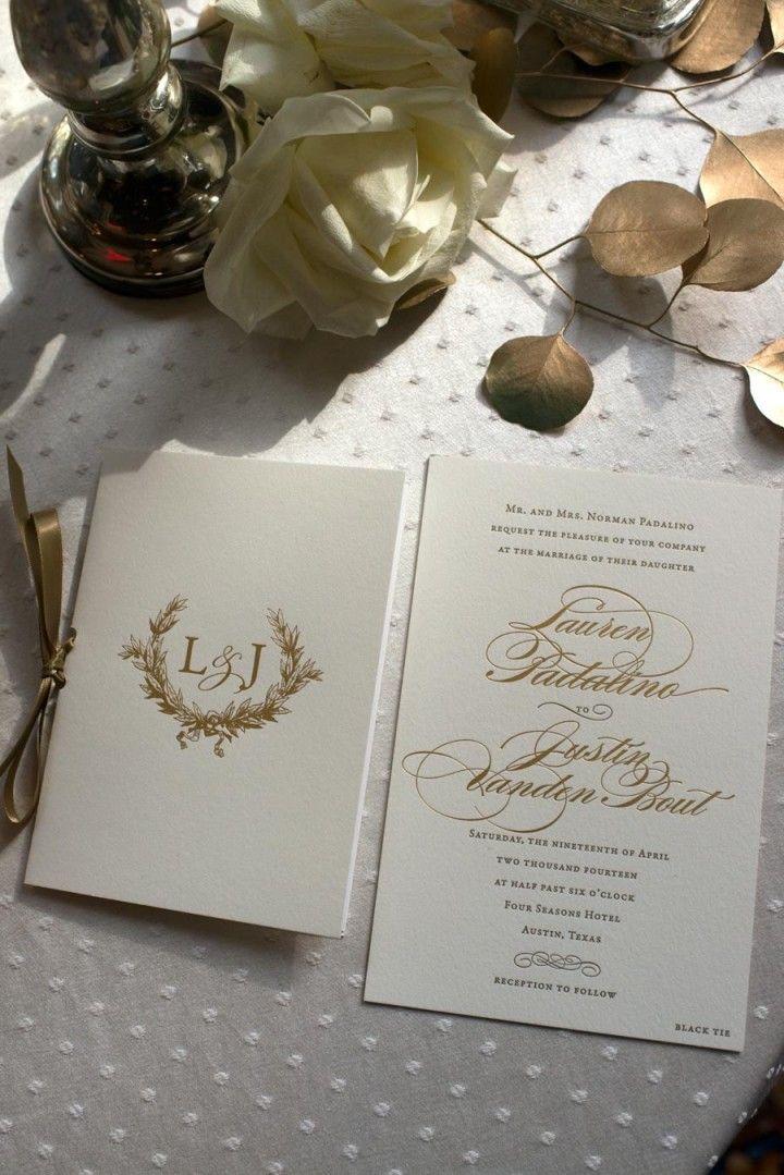 muslim wedding invitations mumbai%0A Golden Glamour in Texas Wedding