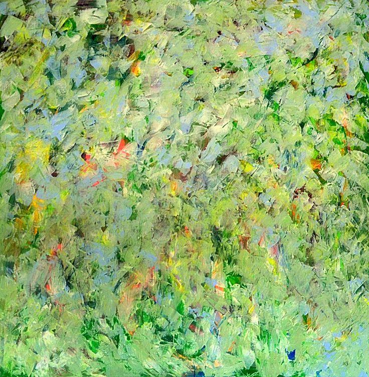 Nature inside/2016 120x120cm Acrylic on canvas-Lívia Földes