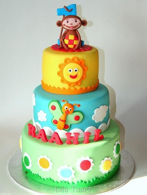 tiered childrens birthday cakes - funny and cute birthday cake for kids