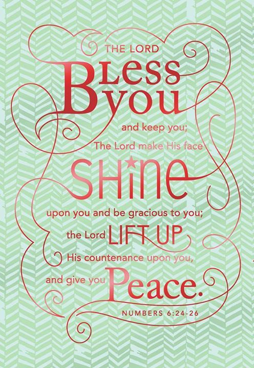 The Lord bless you....