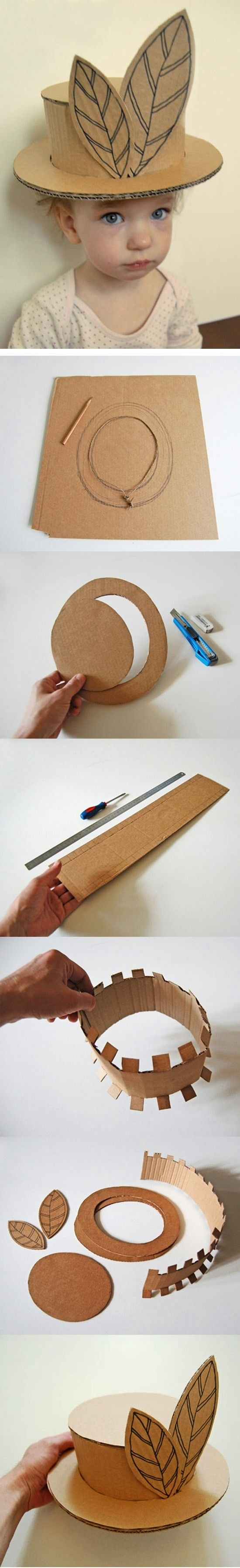 DIY : Kids Cardboard Hat Project