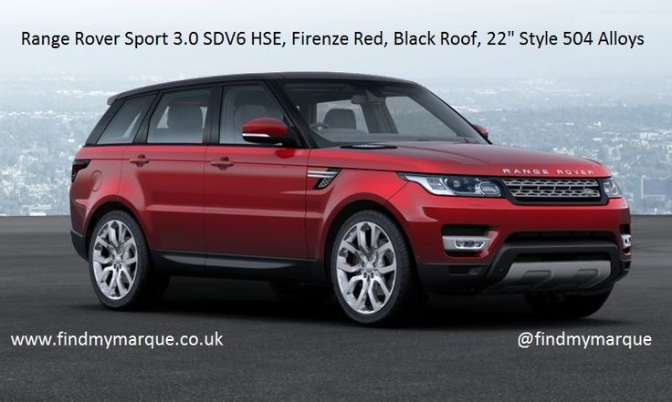 Range Rover Sport HSE Firenze Red Santorini Black Roof 22 Inch Style 504 Style 6