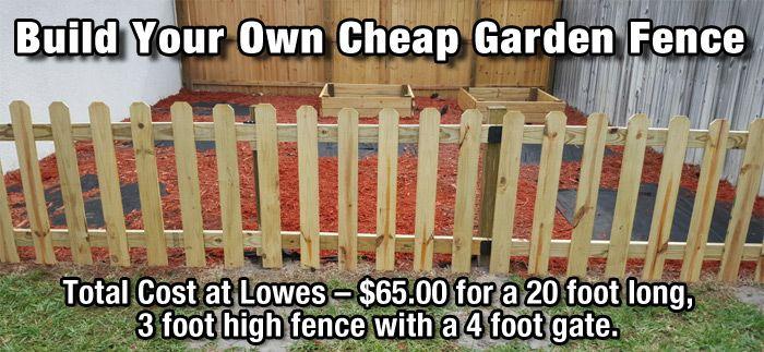 How to Build a Cheap DIY Garden Fence - DIY for Life