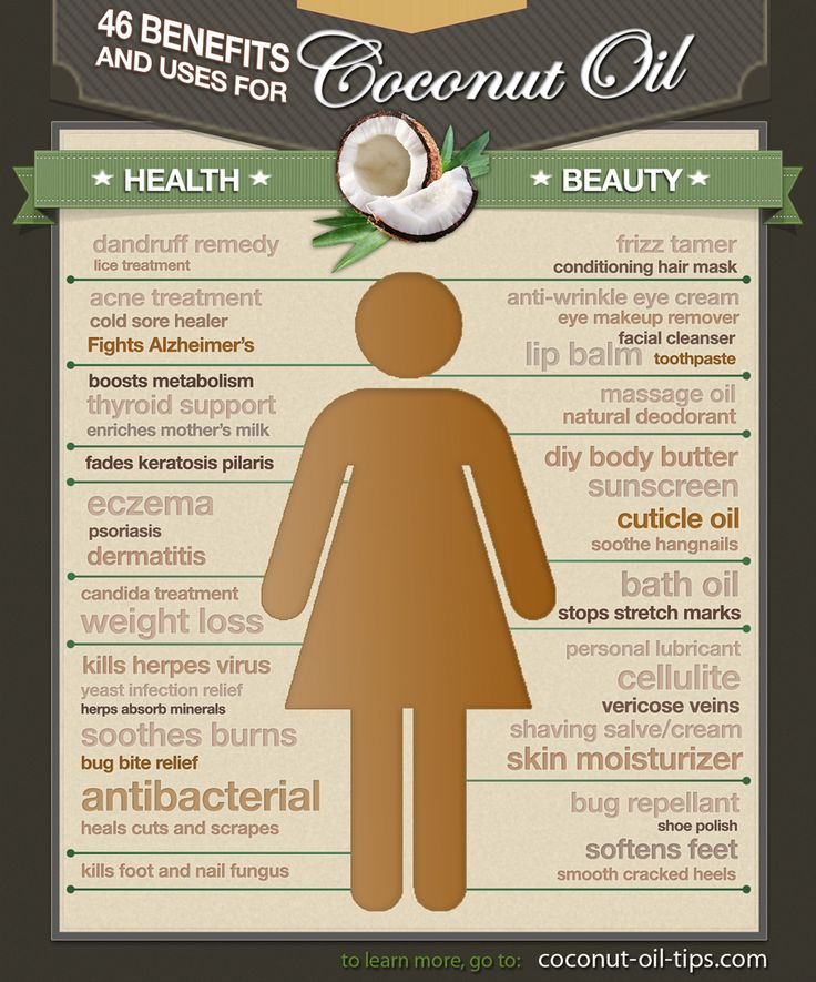 Coconut Oil Uses for Beauty and Health (with Infographic!)