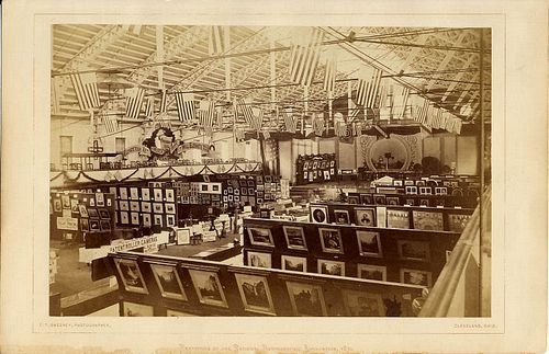T. T. Sweeney (Cleveland, OH) Exhibition of the National Photographic Association,1870. Albumen print, 7.5 x 5 in (image) 9.25 x 6 in (mount). Stereographica - Antique Photographica. Courtesy of Bryan and Page Ginns.