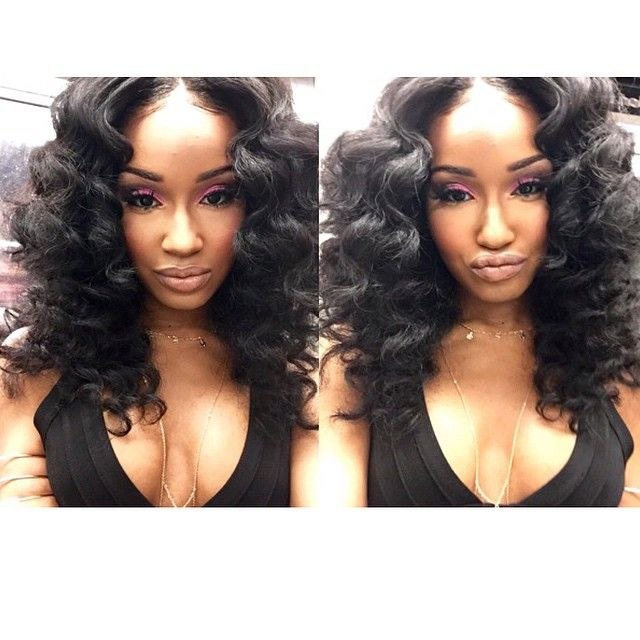 Curling Wand Weave Hairstyles Www Pixshark Com Images